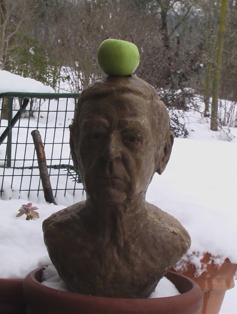 john wax apple on head